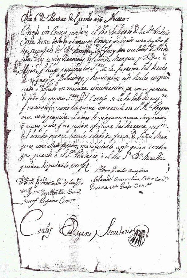 Delibera del Consiglio 6 gennaio 1772