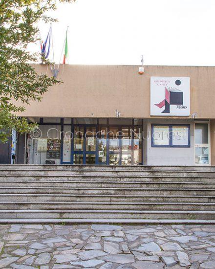 L'ingresso alla Biblioteca Satta (foto S..Novellu)
