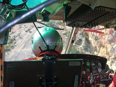Uno scorcio della gola di Gorroppu dall'elicottero dei VVF