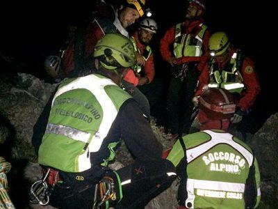 Punta Cusidore: Il recupero dei cinque scalatori
