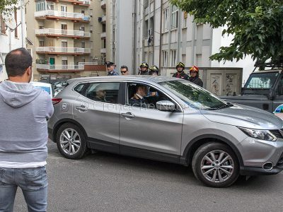 L'auto a bordo della quale è stato portato via Pietrino Floris (foto S.Novellu)