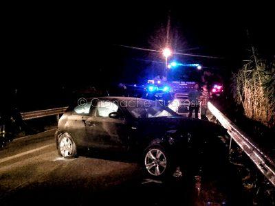 La BMW dopo l'incidente