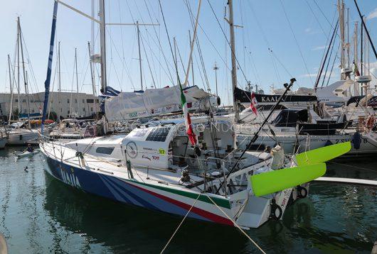 La barca Gaetano Mura prima della partenza per il giro del mondo (foto S.Novellu)