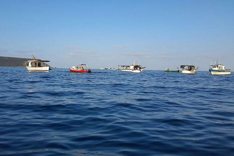 Le barche dei pescatori a Capo Fransca