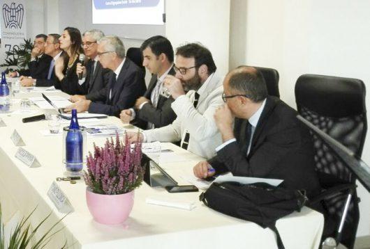 Francesco Pigliaru, Roberto Bornioli e gli altri relatori del convegno