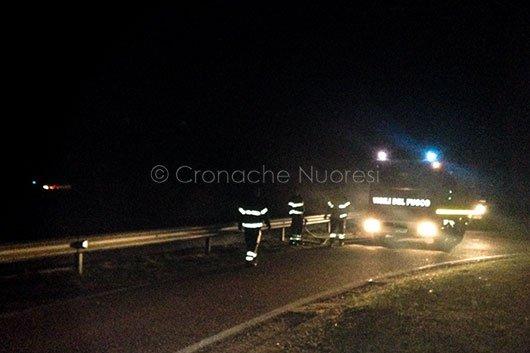 I mezzi VVF al lavoro a Sarule (foto Angius)