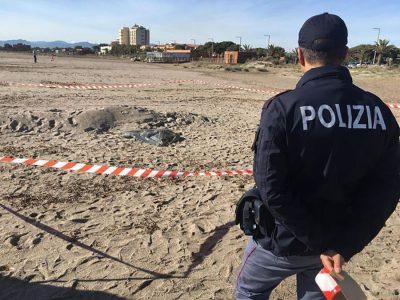 La Polizia al Poetti davanti al cadavere