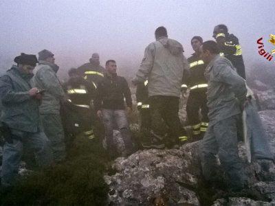 Il momento del ritrovamento dei dispersi sul Montalbo