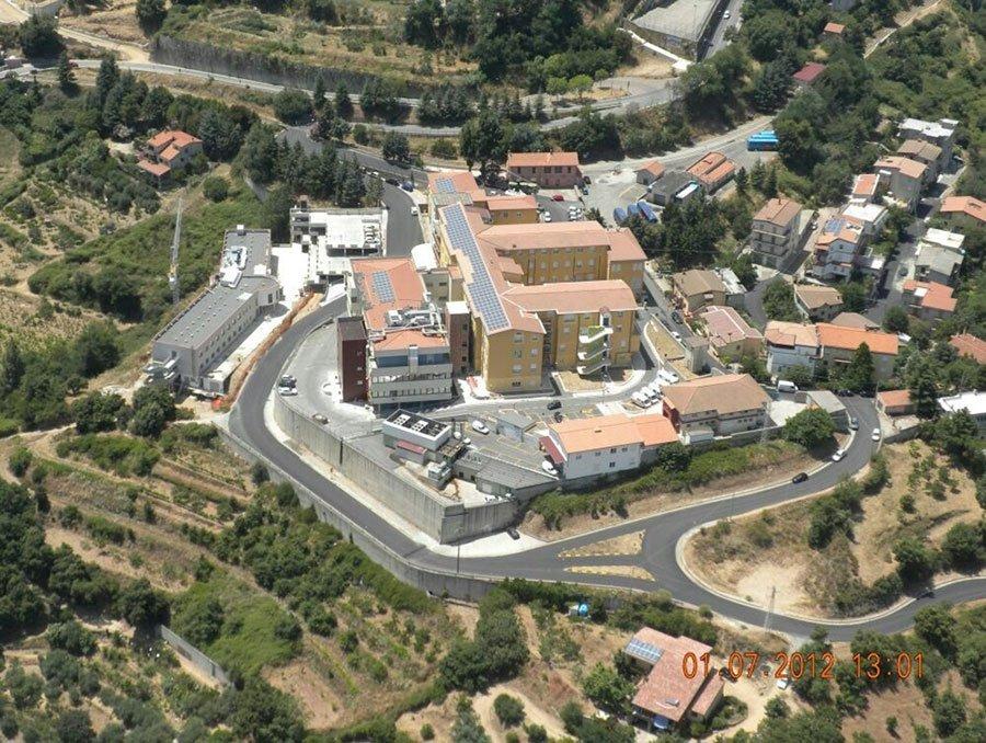 Una vista dall'alto dell'ospedale NS della Mercede di Lanusei