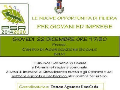 La locandina dell'incontro in programma domani a Belvì.