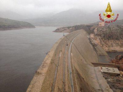 Uno scorcio della diga di Maccheronis