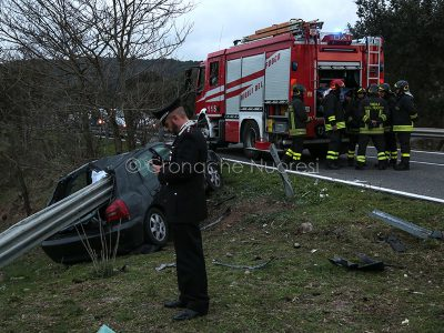 La scena dell'incidente mortale sulla SS129 (foto S.Novellu)