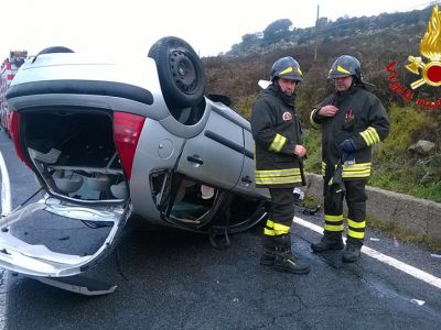La Citroen C3 dopo l'incidente