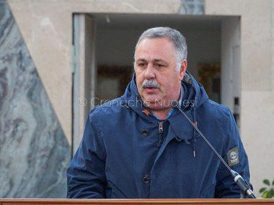 L'intervento di Paolo Manca nel carcere di Badu 'e Carros (foto S.Novellu)