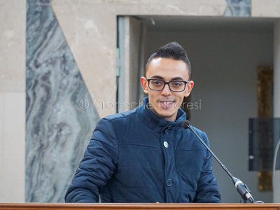 L'intervento di Graziano Siotto nel carcere di Badu 'e Carros (foto S.Novellu)