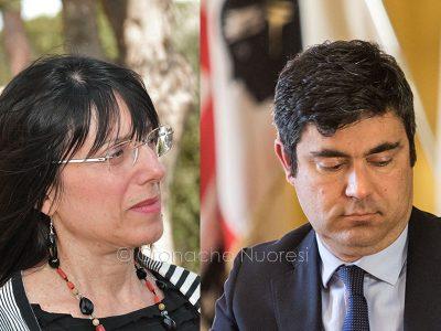 L'ass. all'Ambiente Donatella Spano e il sindaco di Nuoro Andrea Soddu