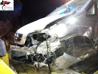 La Opel Zafira dopo l'incidente