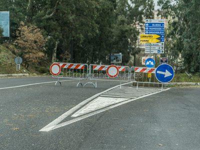 Deviazione del traffico in entrata a Nuoro per frana (foto S.Novellu)