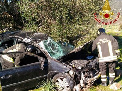 La Renalut Scenic dopo l'incidente