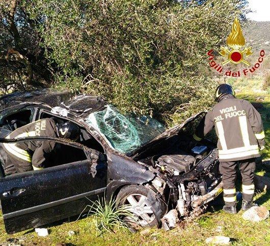 La Renalut Scenic dopo l'incidente