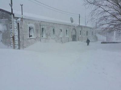 La colonia penale di Mamone sotto la neve