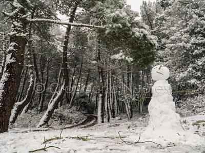 Nuoro. Pupazzo di neve sull'Ortobene (foto S.Novellu)