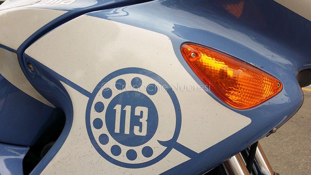 Dettaglio di una moto della Polizia (foto S. Novellu)