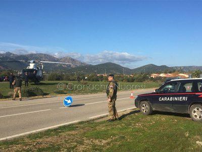 Un posto di blocco dei Carabinieri a San Teodoro