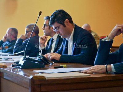 Il sindaco Soddu durante il Consiglio Comunale (foto S.Novellu)