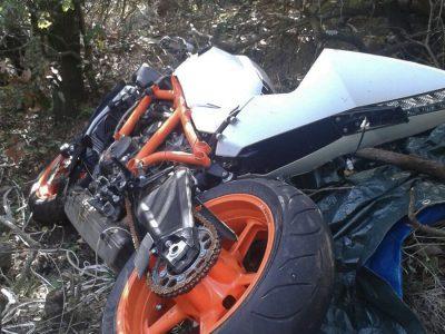 La moto KTM rubata rinvenuta nelle campagne di Urzulei