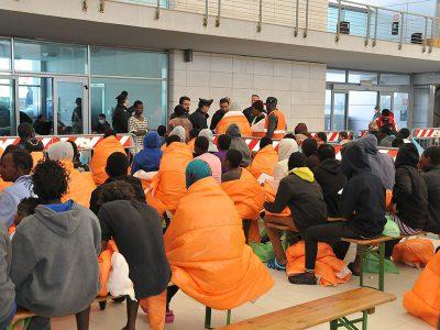 Gli ultimi migranti sbarcati a Cagliari