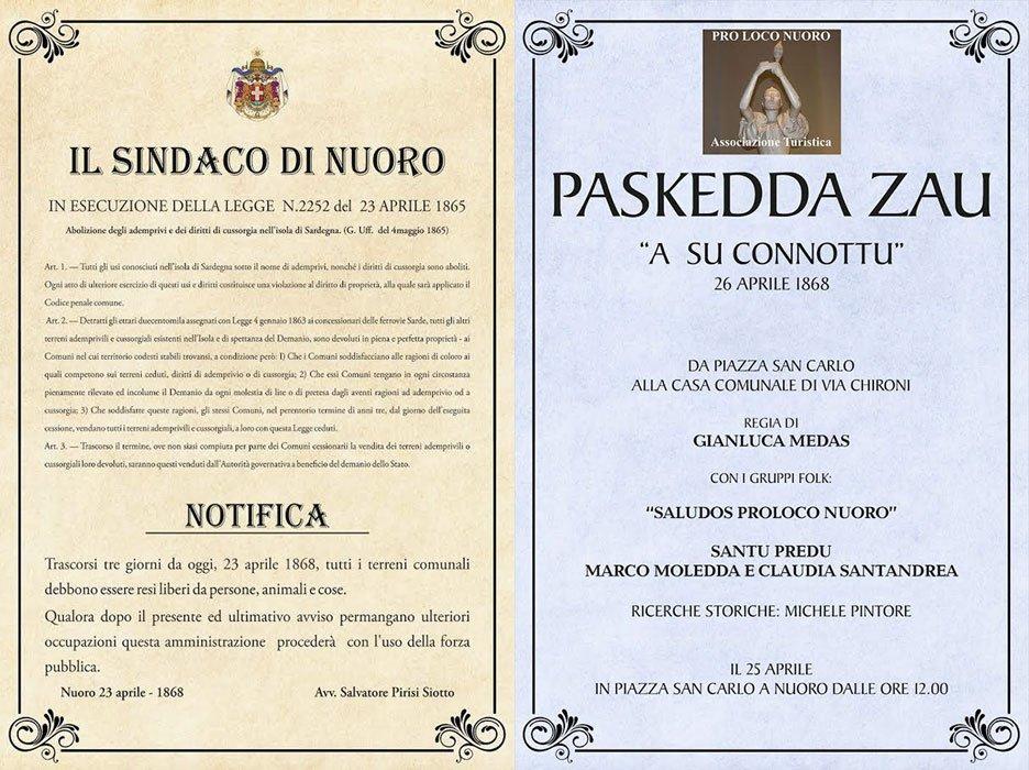 """Paskedda Zau: """"A su Connottu, torramus a su Connottu"""". Il 25 aprile la rappresentazione storica"""