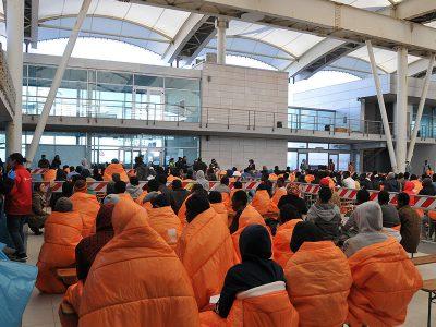 Migranti dell'ultimo sbarco a Cagliari