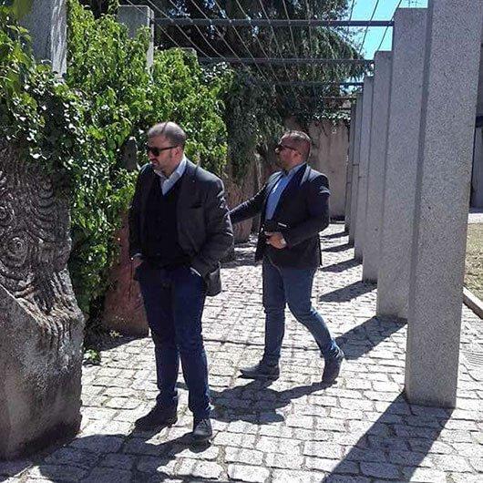 Gli assessori Cocco e Belloi durante un sopralluogo in p.zza Satta