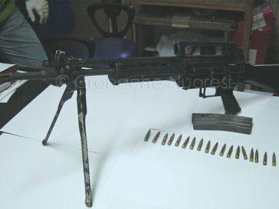 Alcune delle armi sequestrate in Ogliastra