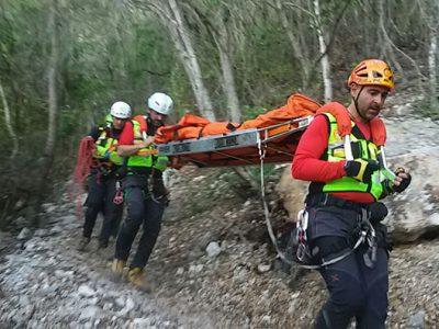 CNSAS: il salvataggio dell'escursionista infortunata
