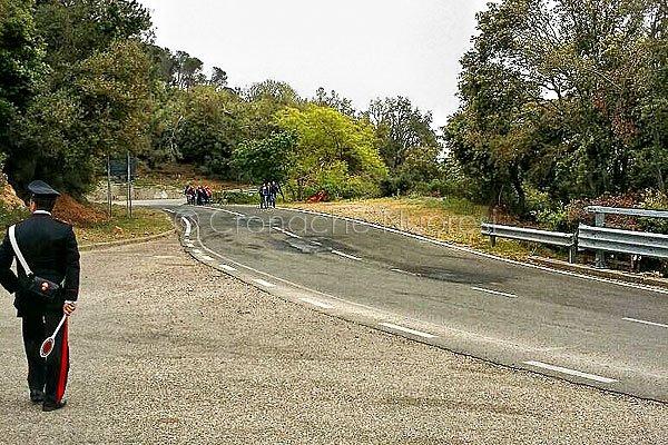 Il tratto stradale ripristinato dai giovani e dalle associazioni di Orune in occasione del Giro d'Italia