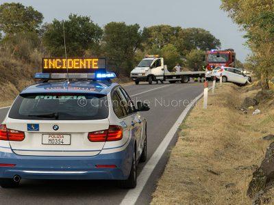 L'incidente sulla Statale 129 (foto S.Novellu)