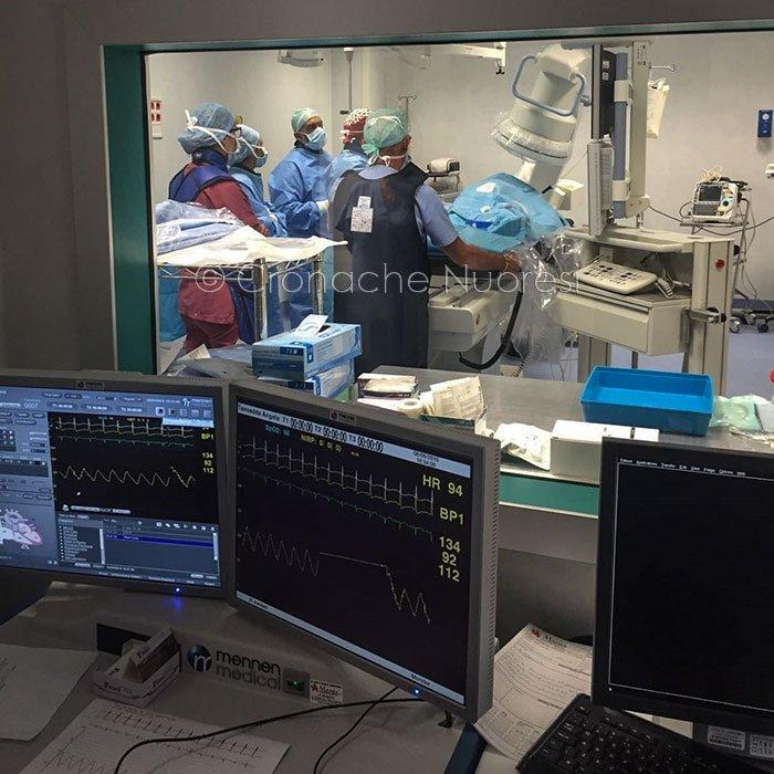 Il reparto di emodinamica dell'ospedale di Lanusei