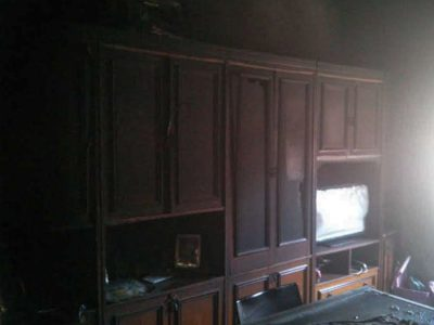 Orgosolo, l'interno dell'abitazione dopo l'incendio