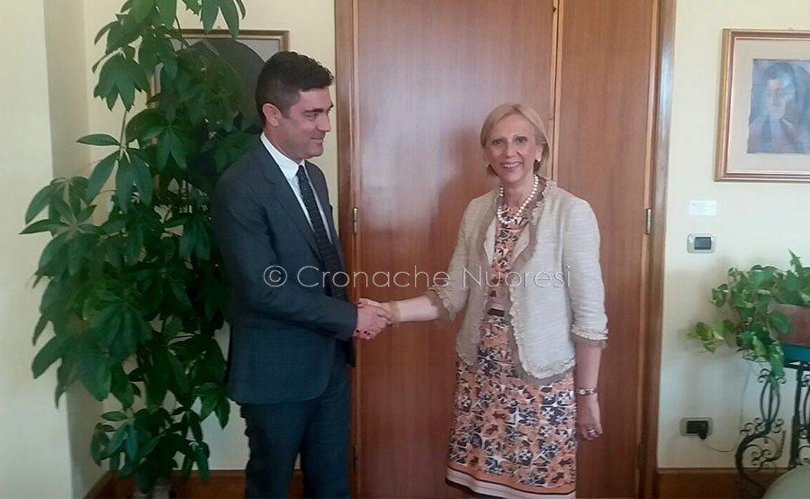 Il sindaco Andrea Soddu e il prefetto Bellantoni