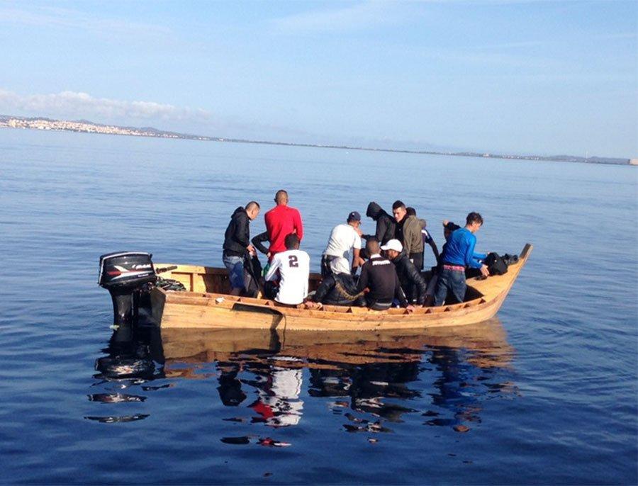 Gli algerini sbarcati nella mattinata di oggi