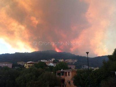 Una frazione di San Teodoro colpita dagli incendi dei giorni scorsi