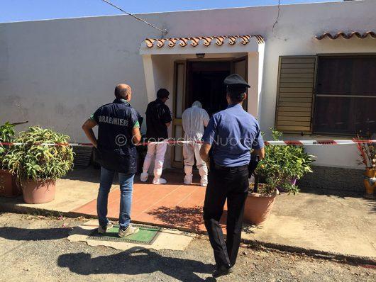 La casa dove è avvenuto il fatto di sangue a S.Maria Navarrese
