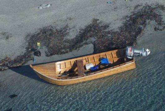 L'imbarcazione utilizzata dagli algerini