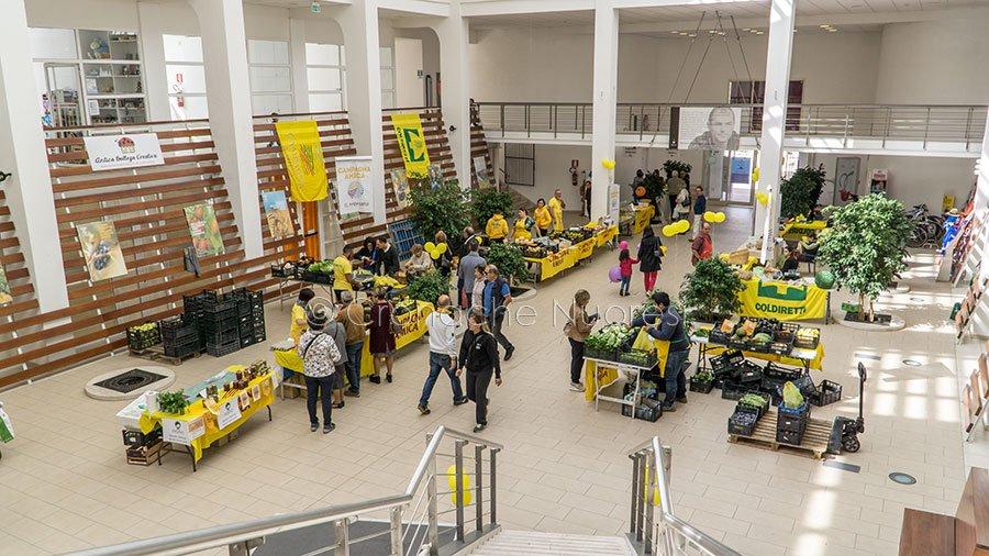 Nuoro, il mercato della Coldiretti all'Ex mercato civico (foto S.Novellu)
