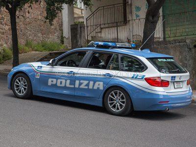 Una volante della Polizia (foto S.Novellu)