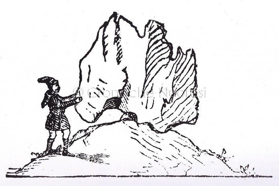 Sa preda ballerina nel 1869 (disegno di La Marmora)
