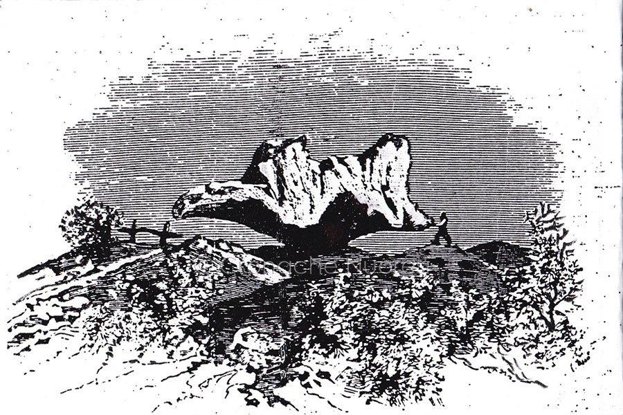 Sa Preda ballarina (da un disegno dal vero di L. Agabiti 1882)