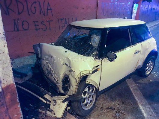 L'auto subito dopo lo schianto mortale
